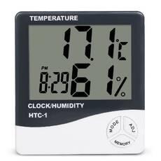 Электронный комнатный термометр гигрометр со временами Ketotek НТС- 1