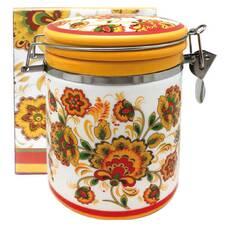 Емкость для сыпучих 750 мл Цветочная роспись Snt 629-16