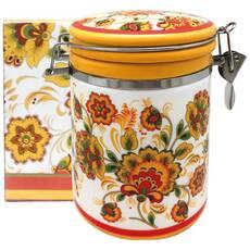 Емкость для сыпучих 1200 мл Цветочная роспись Snt 631-16