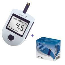Акционный набор Глюкометр Longevita + 50 (25х2) тест-полосок, (Великобритания)