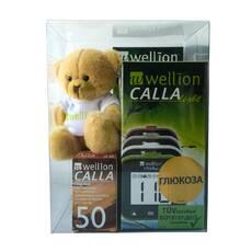 Акційний набір Глюкометр Wellion CALLA Light : 110 тест-полосок і подарунок плюшевий ведмедик