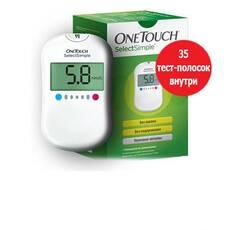 Акционный набор Глюкометр One Touch Select Simple с 35 тест-полосками в комплекте (LifeScan, США)