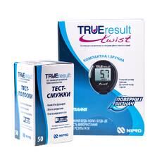Глюкометр TRUEresult з тест-полосками №50 в наборі! Nipro