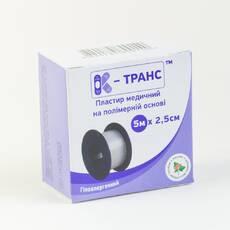 Пластир на полімерній основі К-транс 5м х 2,5см №1 Калина