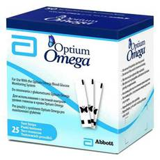 Tест- смужки Optium Omega, 25 шт.