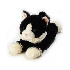 Игрушка-грелка Котенок черный лежащий Intelex