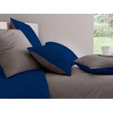 Комплект двосторонньої постільної білизни Порох + Синій