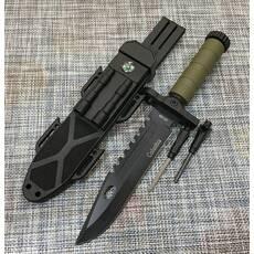 Охотничий нож Colunbia с огнивом и компасом 32см / 2518В