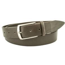 Мужской кожаный ремень J.K. 3.5 см для брюк темно-коричневый 110-135 см  (JK1658)