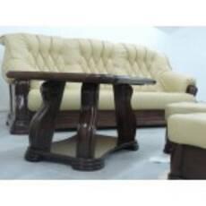 Шкіряний комплект меблів на дубі KOTOR 3+1+1