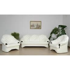 Шкіряний комплект меблів KLEOPATRA 3+1+1