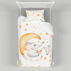 Детское постельное белье 110х140 см с авторским рисунком Слоник