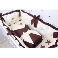 Набор в детскую кроватку бежевый с коричневым