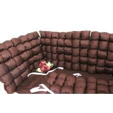 Борти бомбон в ліжечко в коричневих тонах