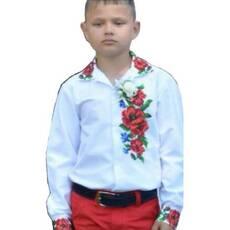 Заготівля  сорочки для хлопчика ''Макі з волошками''