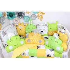 Комплект в ліжечко в жовто-салатових кольорах