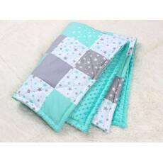 Детское теплое одеяло в Мятных тонах