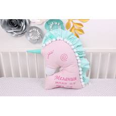 Подушка игрушка Единорог с именной вышивкой