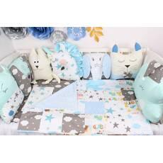 Комплект в ліжечко бомбон і іграшки Сатин