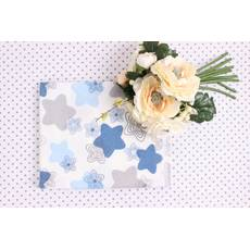 Фланелевая пеленка маленькие Голубые звёзды