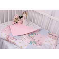 Детское теплое одеяло с единорожками