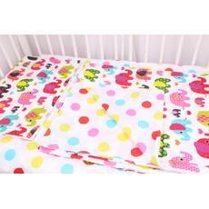Постельное белье в детскую кроватку разноцветные слоны