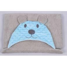Полотенце для купания мишка детское серое