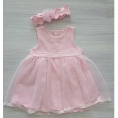 Платье+повязка ТМ Happy ToT 74, Розовый