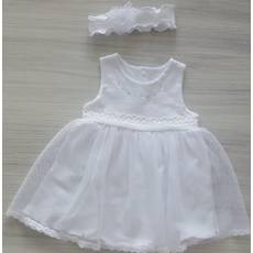 Платье+повязка ТМ Happy ToT 68, Белый