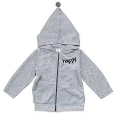 "Куртка велюровая ""Happy"" TM Minikin 74, Серый"