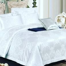 Двоспальний євро комплект постільної білизни з жаккарда