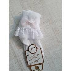 Носочки с кружевом Белый