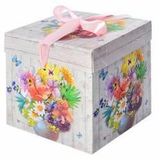 """Коробка подарункова паперова """"Літо"""" 15*15*15см"""