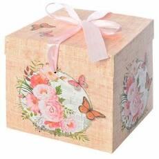 """Коробка подарункова паперова """"Ретро"""" 15*15*15см"""