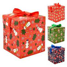 Коробка подарункова новорічна 22*22*22см