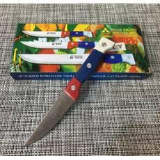 """Нож кухонный с цветной ручкой """"3"""" /18,5 см / А-74"""