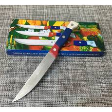 """Ніж кухонний з кольоровою ручкою 5""""- 22см / 413В"""