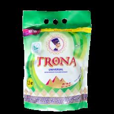 Порошок стиральный бесфосфатный TRONA Universal с отбеливающим эффектом 1,5 кг