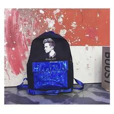 STK Рюкзак с голограммным карманом синий