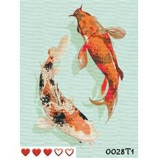 STK Картина по номерам Карпы Кои + ЛАК , ТМ Барви, 40*50 см,без коробки