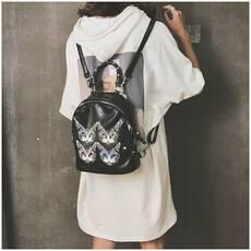 STK Невеликий рюкзак з мордочками чорний