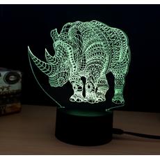 """STK Ночник 3D """"Носорог"""""""