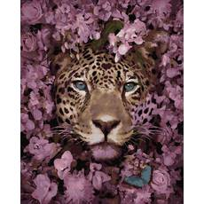 STK Картина по номерах Леопард в кольорах, кольорове полотно, 40*50 см, без коробки Barvi