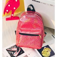 STK Маленький рюкзак с блестками красный