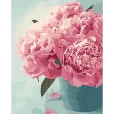 """STK Картина по номерам """"Розовые пионы"""" 40*50 см в коробке, ArtStory + акриловый лак"""