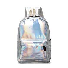 STK Рюкзак голографічний середнього розміру срібло