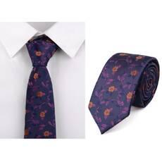 STK Галстук фиолетовый с цветами