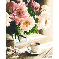 STK Картина по номерам Пионы, цветной холст, 40*50 см, без коробки Barvi