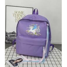 STK Рюкзак з однорогом фіолетовий