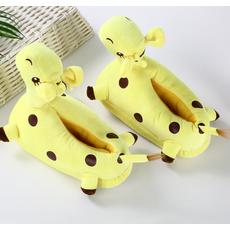 STK Детские тапочки- игрушки Жирафы желтые